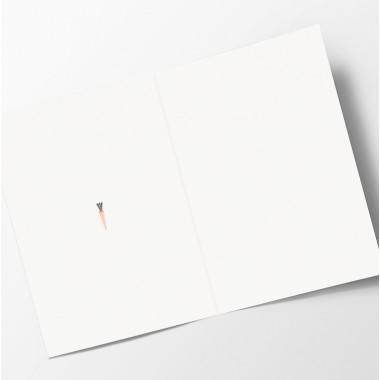 "Edith schmuckes Papier ""Möhre"" Grußkarte"