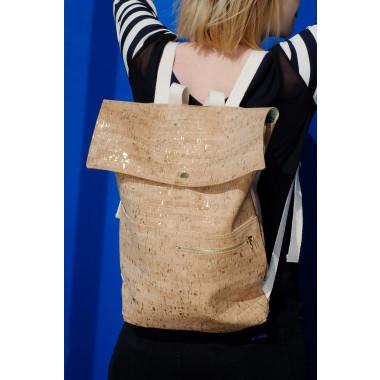 corkskin backpack myrto natural goldflakes