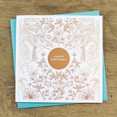 Bow & Hummingbird Geschenkerpackungs-Set zum Geburtstag