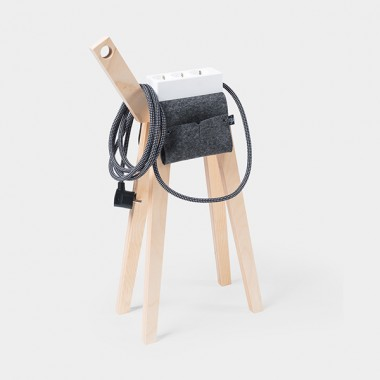Njustudio Stromer – Mobile Steckerleiste (White Black)