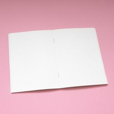 Edith schmuckes Papier Notizheft A6 mit Fadenbindung mit Weltraumrakete