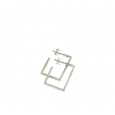 """Ohrringe """"Ausgespart"""" aus 925/- Silber (rotvergoldet)"""