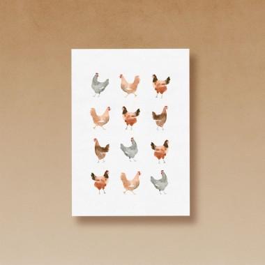 tucán y limón – Osterkarten Set / Frühlingskarten als Postkarten aus 100 % Recyclingpapier (6er-Set)