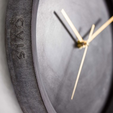 Beton Wanduhr Ovisproducts No. 04 - moderne Uhr