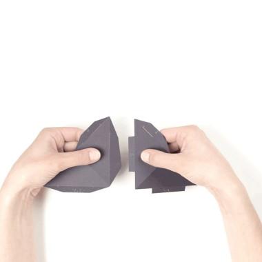 PaperShape Wandtrophäe Hirsch zum Zusammenstecken