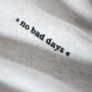 pellim. no bad days hoodie grau