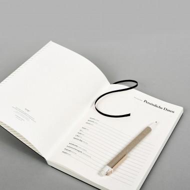 tyyp Kalender 18/2019, 18 Monate, schwarz, DIN A5, Handmade