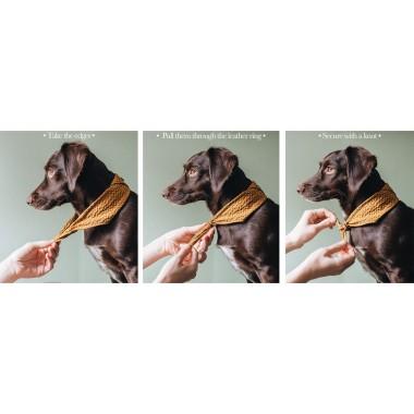 """Hundehalstuch aus Baumwollstoff """"TORI"""", mit Liebe kreiert in unserem Familienstudio in Berlin"""