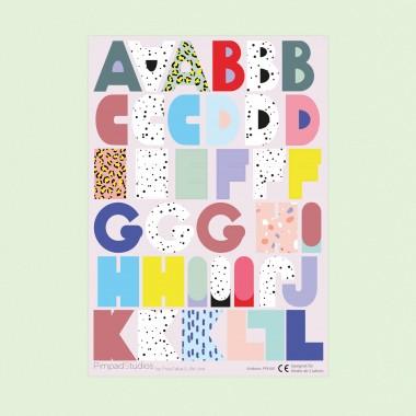 "Pimpad Sticker Set ""ABC"" (2 Bögen Aufkleber)"