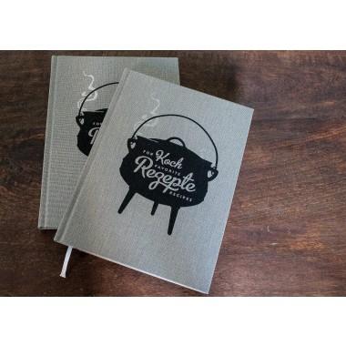 Kochbuch für Lieblingsrezepte mit Notizblock