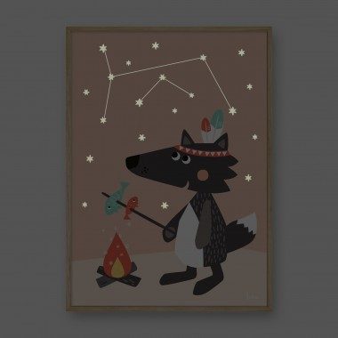 NACHTLEUCHTENDES Poster Bär