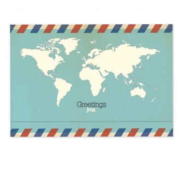 sonst noch was? Universal Postkarte für Globetrotter