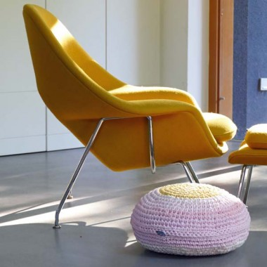 Bodenkissen PALLO von Lumikello. Recyclingdesign