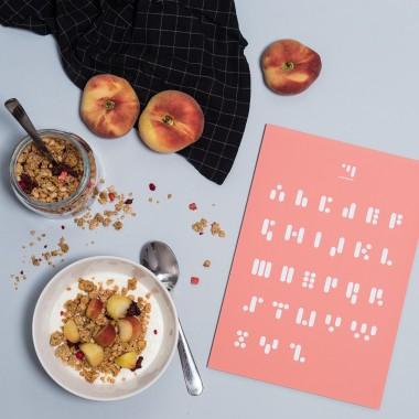 punktkommastrich – print abc.peachpink