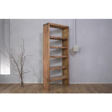 FraaiBerlin - Bücherregal Bauholz Theresa Braun 165 x 70 x 25 cm
