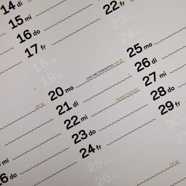 zweitausend&einundzwanzig - Wandkalender 2021 - Weiss Schwarz Gold