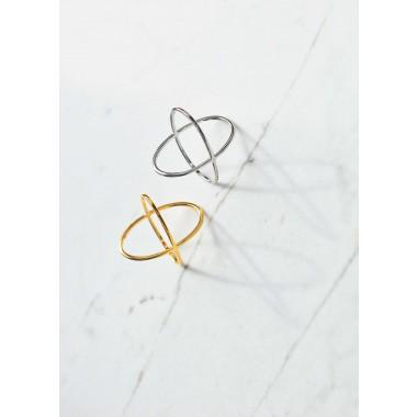 iloveblossom CROSSING OVER RING // silver