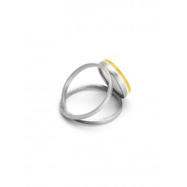"Eva Slotta Jewellery ""Tint Deep"" Ring mit gelbem Achat, 925 Silber"