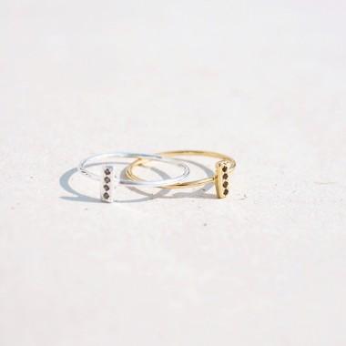 iloveblossom FOUR-STEP BAR RING // gold