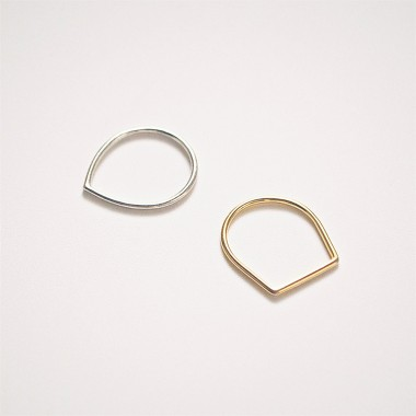 iloveblossom FUN WITH GEOMETRY RING // drop // gold