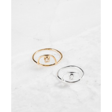 iloveblossom ICE DROP RING // gold