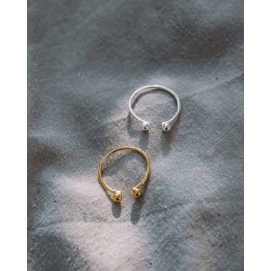 iloveblossom PEBBLE TWIN RING // gold