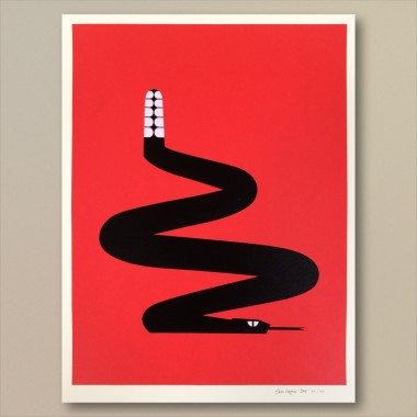 Print now - Riot later ● Abstract Snake Siebdruck