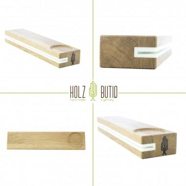 Schlüsselbrett slosilo, Design Schlüsselbrett aus Holz mit Ablage