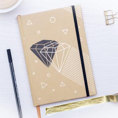 Diamond // Notizbuch Schreibbuch Din A5