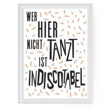 aprilplace // Indiscotabel // Kunstdruck Din A4