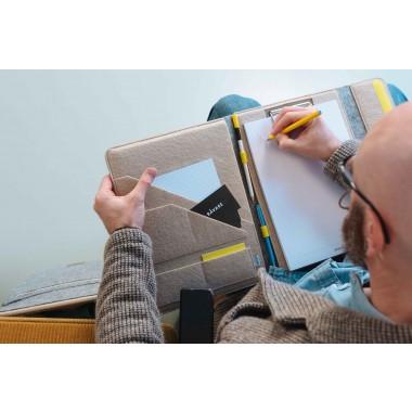 """RÅVARE Filz-Klemmbrett für A4-Dokumente, passend für iPad Pro 12,9"""", 12"""" MacBook, 13,3"""" MacBook Air, elegante Businessmappe"""