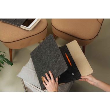 """RÅVARE 13"""" Tablet-Organizer im skandinavischen Stil aus Filz, funktionales A4-Businessetui"""