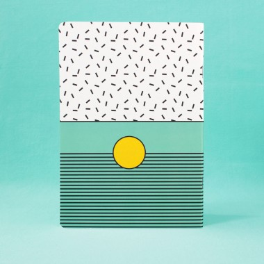 polypodium / Notizheft - A5 - I ♥ Memphis / turquoise