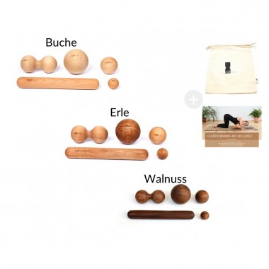 rollholz – kleines Massage Set für punktuelle Behandlung