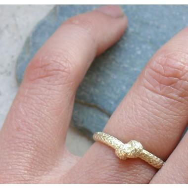Seilring Gelbgold585 einfacher Knoten