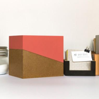 sperlingB – Rezeptbox, koralle, Karteikartenbox für Rezepte