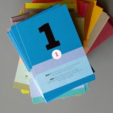 sperlingB – schönetagebox, weiß, immerwährender Kalender in der Box