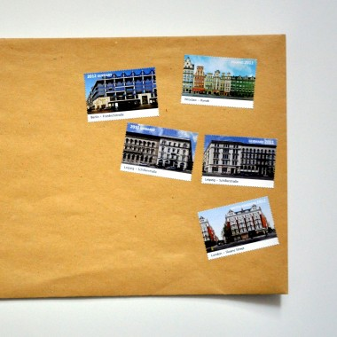 Briefmarken CityScapes - Berlin Leipzig London Paris Wroclaw