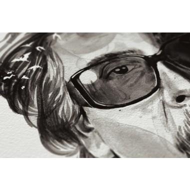 Movie Director Portrait Print, Tim Burton