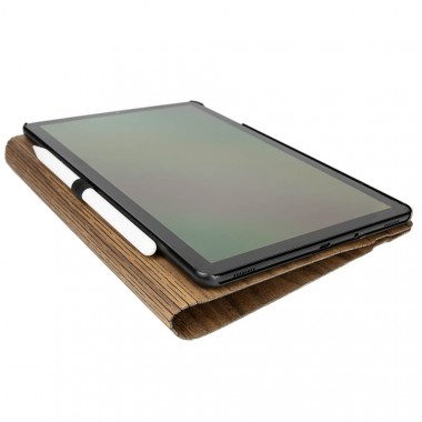 JUNGHOLZ Design WoodCase, Tablet, Walnuss, Samsung Galaxy Tab S4