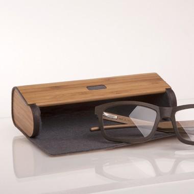 formes Berlin - Brillenetui Holzfurnier - gedämpfter Bambus Grau
