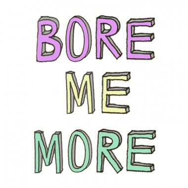 TEMPORARY TATTOO - BORE ME MORE (SET OF 2)