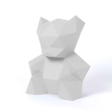 PaperShape Papierskulptur Teddy zum Zusammenstecken