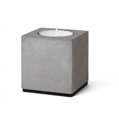 """Kerzenleuchter """"Block"""" für Teelichter aus Beton (vierteilig)"""