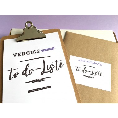 "Design Verlag To-Do-Liste ""Vergiss es nicht!"" Klemmbrett 