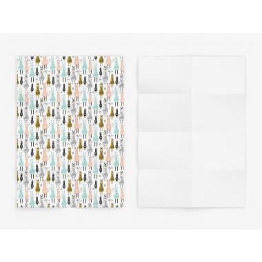 typealive / 5x Geschenkpapier / Lama Wrap (gefaltet)