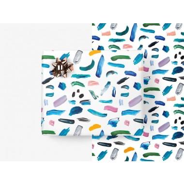 typealive / 5x Geschenkpapier / Pastel Strokes (gefaltet)
