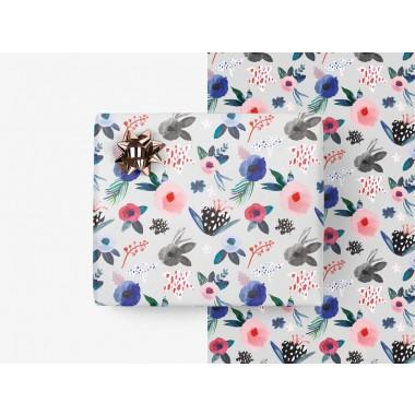 typealive / 5x Geschenkpapier / Scandi Bloom (gefaltet)