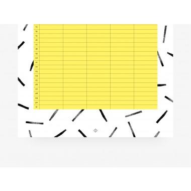 typealive / Familienkalender DIN A3 / Black & White