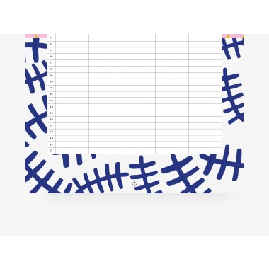 typealive / Familienkalender DIN A3 / Pattern
